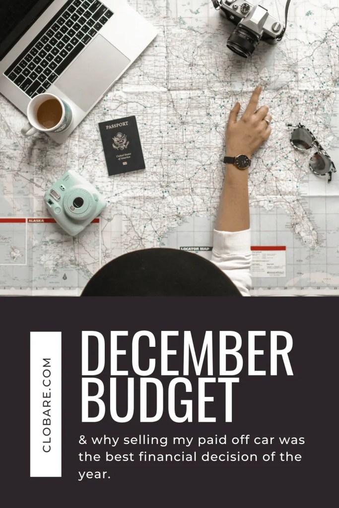December Budget: Travel