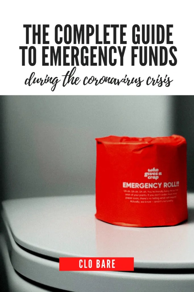 how to start an emergency fund during COVID 19
