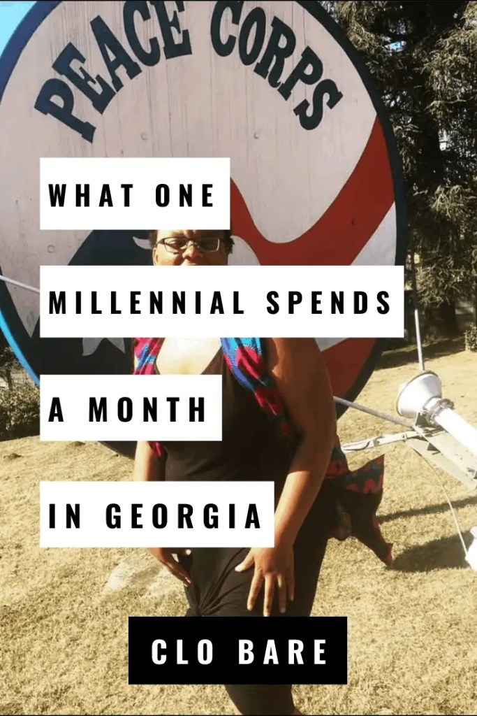 What one millennial spends a month in georgia
