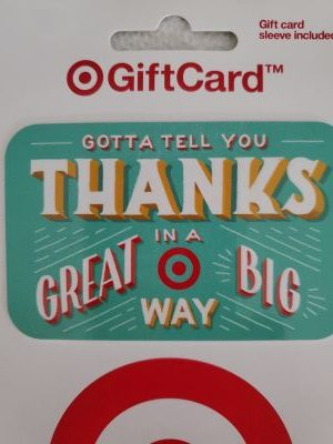 Target gift card for the giveaway