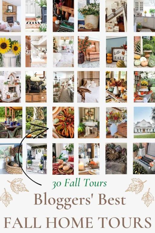 graphic for the best fall home tours