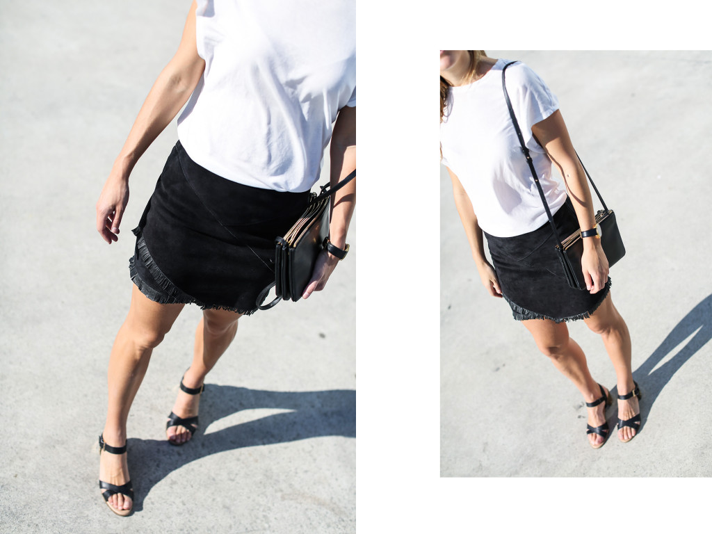 Maje suede mini skirt  Celine  Hm Trend  Larsson  Jennings  Clochet
