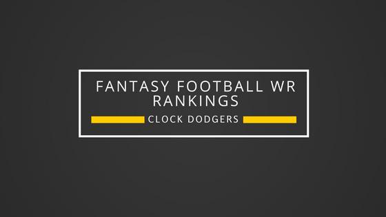 2016 PPR WR Rankings