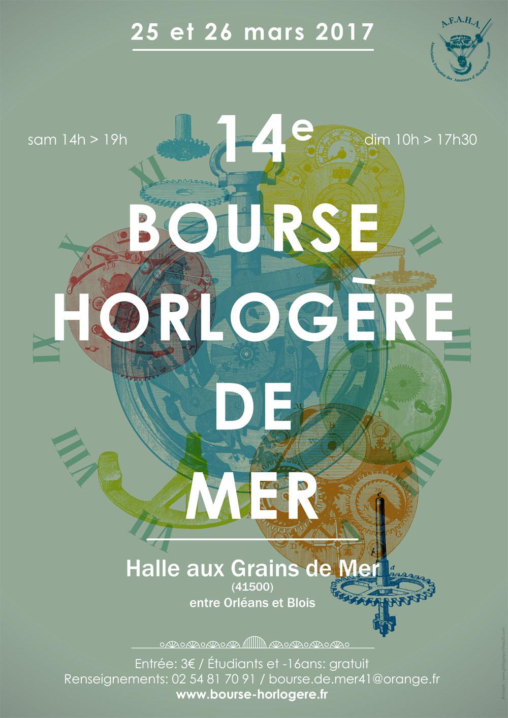 C'est bientôt la 14ème BOURSE HORLOGÈRE De MER, 25 et 26 MARS 2017
