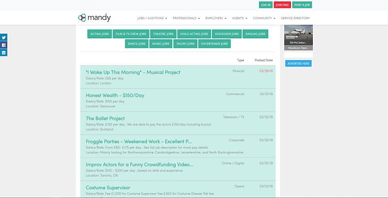 mandy freelance website