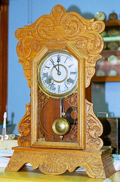 New Haven Oak Kitchen Clock