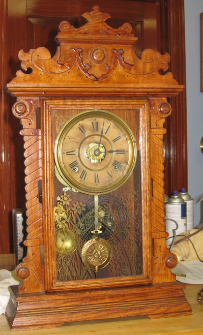 Seth Thomas Oak Kitchen Clock