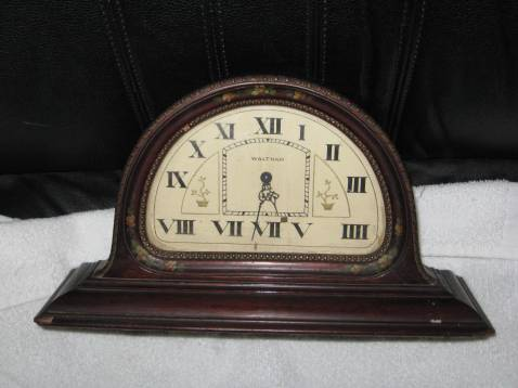 Front view of the clock