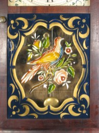 Replacement tablet, a reproduction of an original. Painted on old glass by Lee Davis.