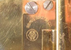 Royce Watch Co. logo on back plate with Kundo logo below it.