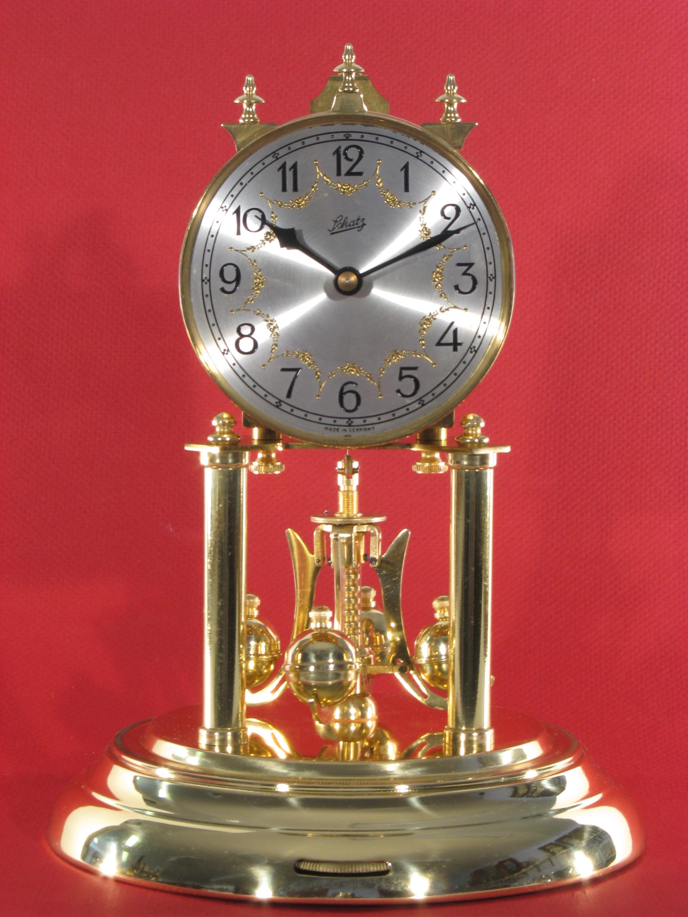 Schatz Standard 400 Day Clock With Silver Dial, Made Sept