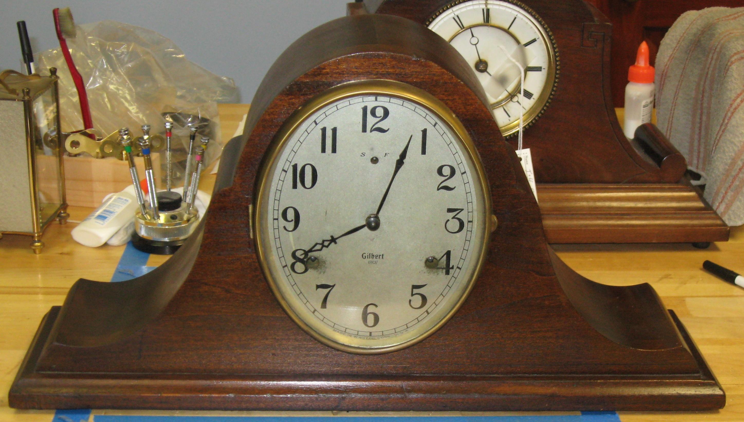 Navy mantel clock