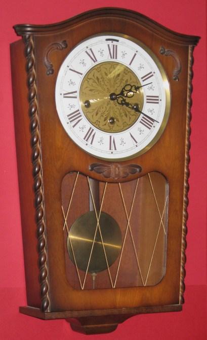 German Trapezoid Wall Clock 1960s Clockinfo Com
