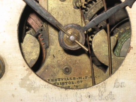 Maker's name on dial and movement