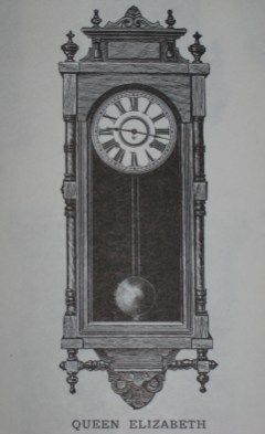 "Ansonia ""Queen Elizabeth"" wall clock as shown in the 1906 - 1907 Ansonia catalog."