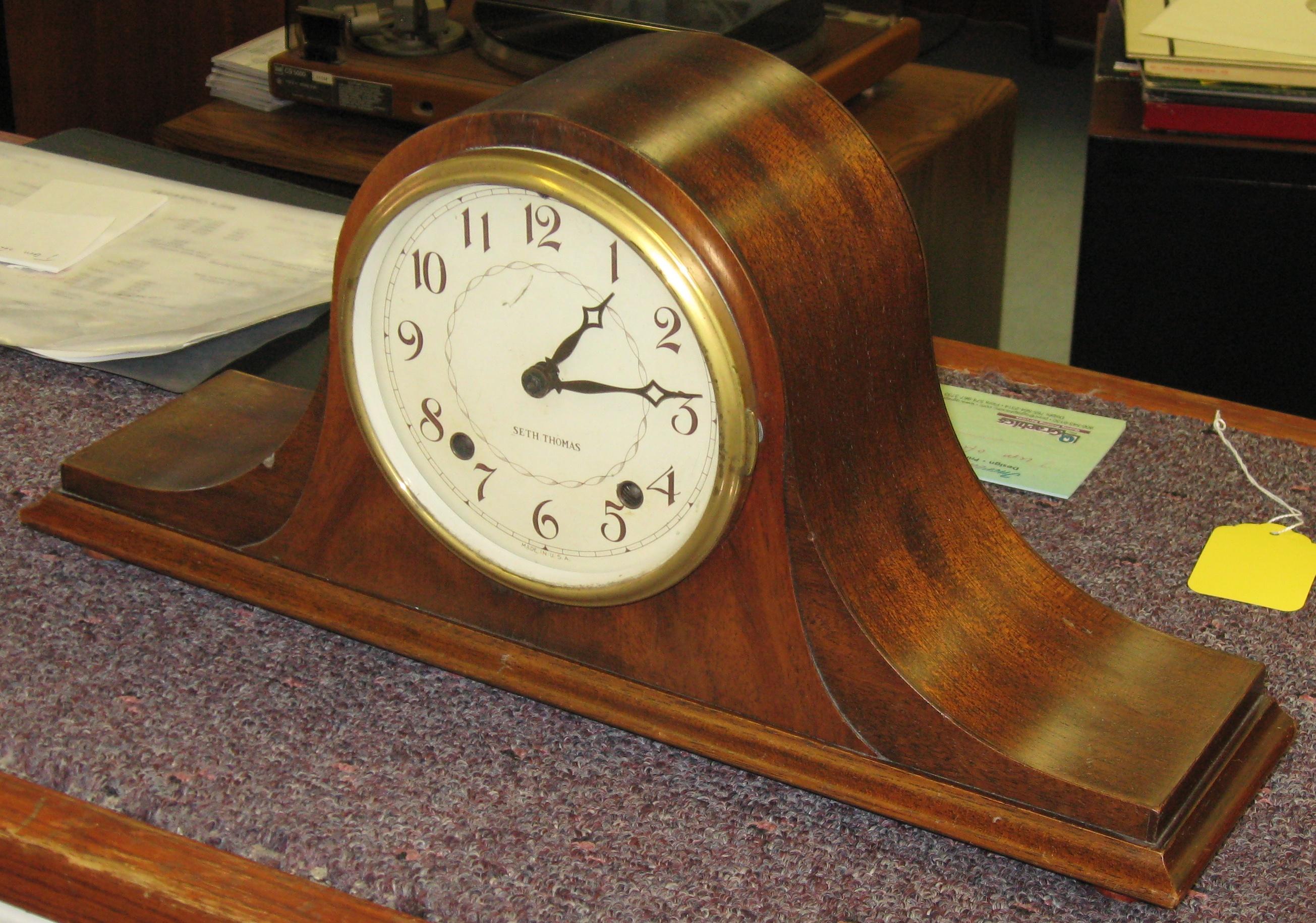 Seth Thomas Staunton Tambour Mantel Clock, 1941
