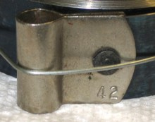Timesavers 15959 mainspring that is 0.0165 inch thick (labeled 42 on the loop).