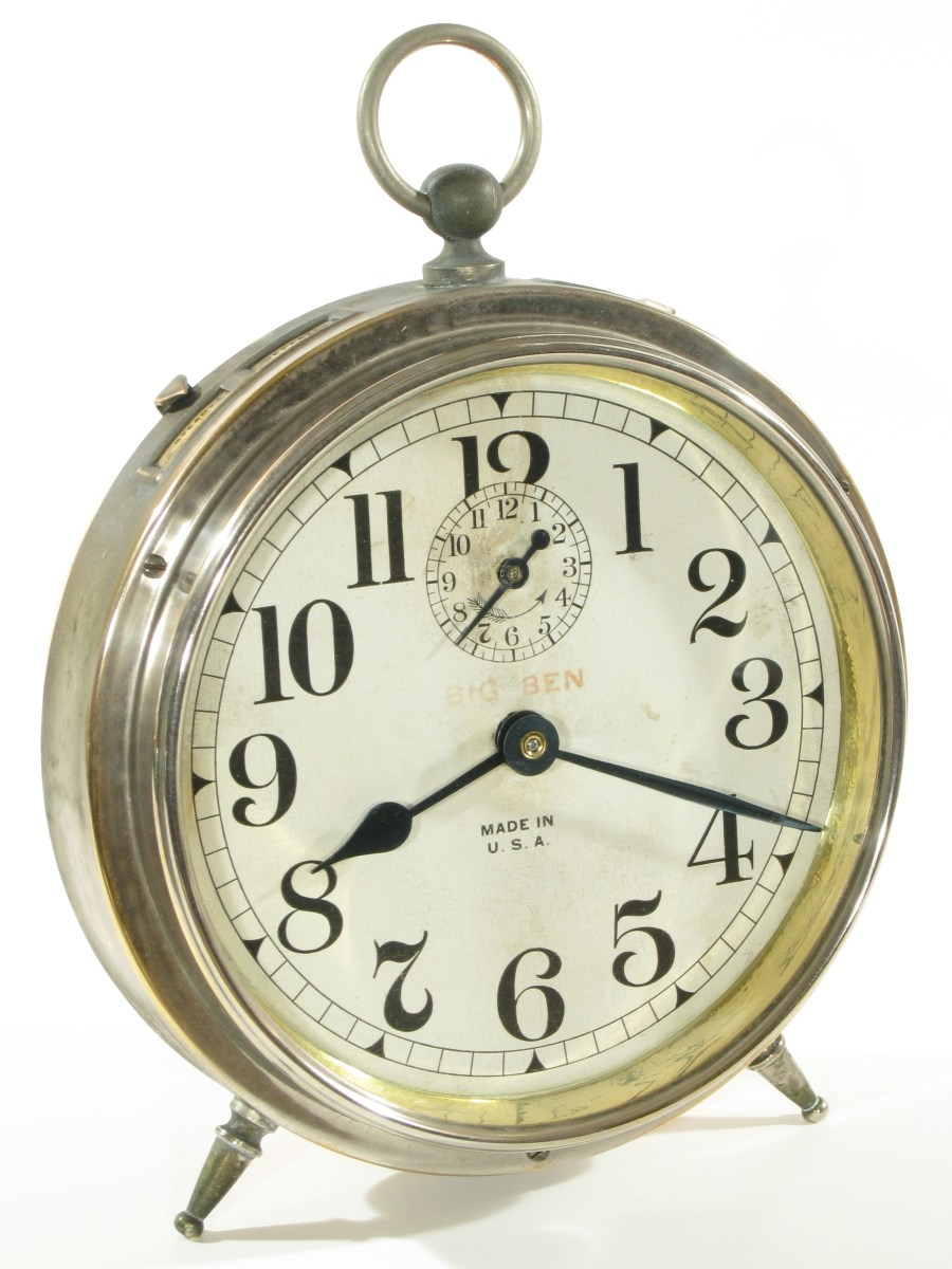 Early Westclox Big Ben Alarm Clock Dated July 3 1909