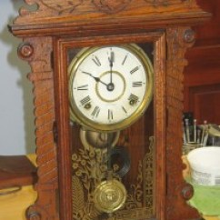 Wooden Kitchen Clock Pantries Antique Seth Thomas Oak With Nice Label And Date On There Are Lots Of These Clocks Around I Am Showing This One Because It Has A The Back Code