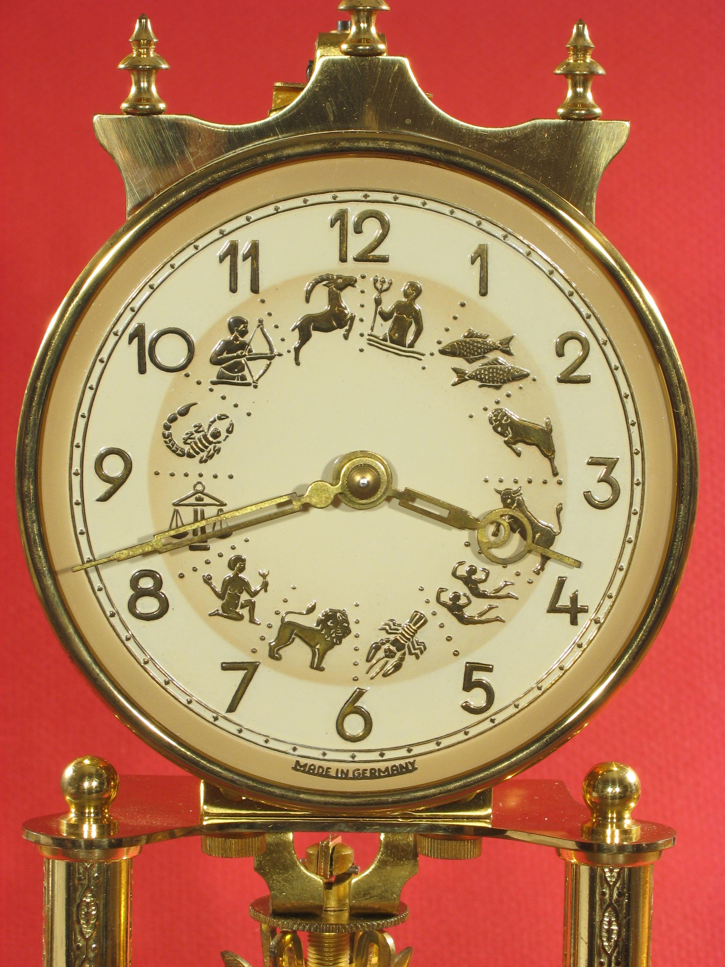 Kern Standard 400 Day Clock With Zodiac Dial Clockinfo Com