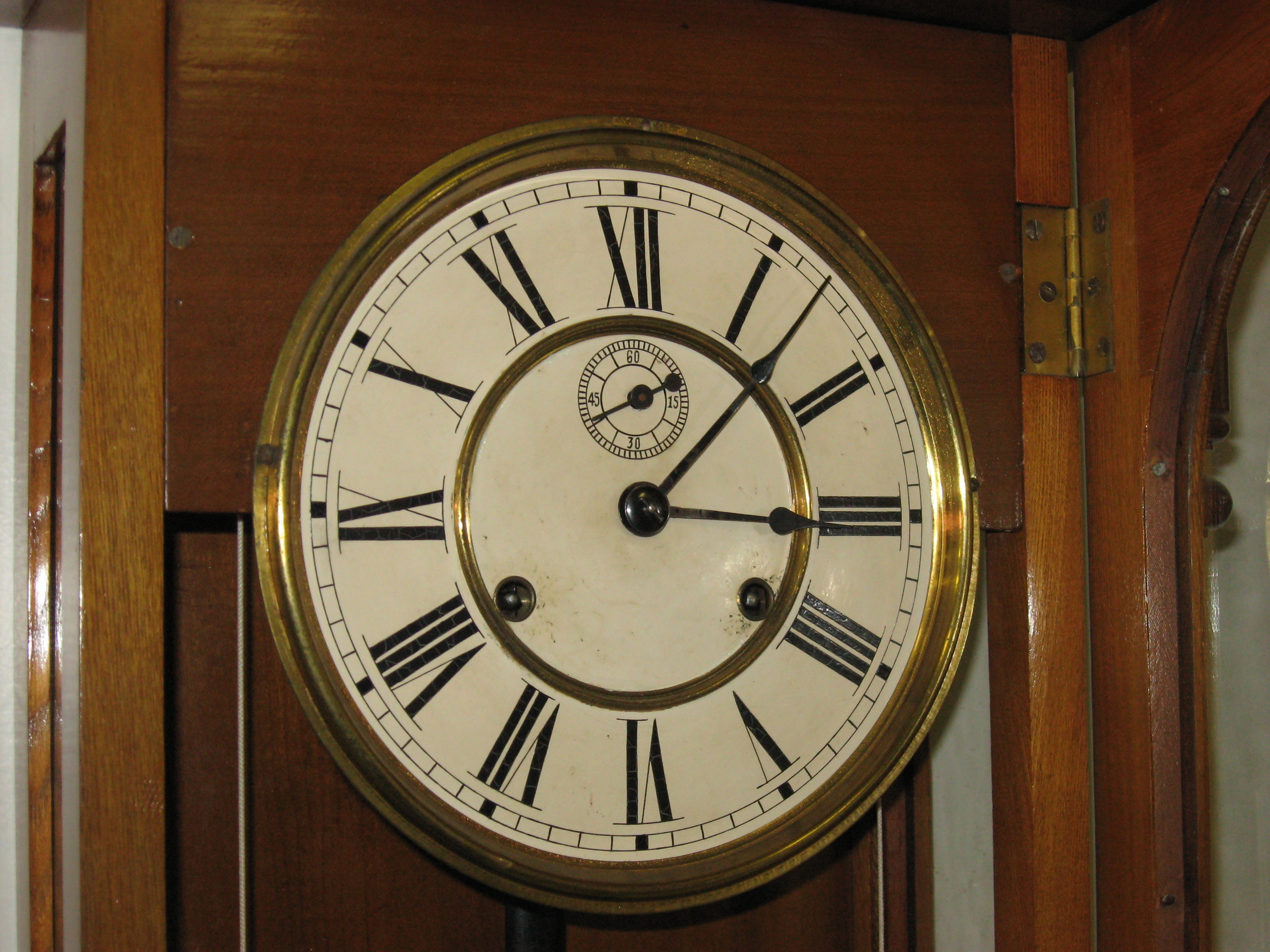Ansonia capitol weight driven wall clock clockinfo see more photos two weights allow the clock amipublicfo Images