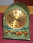 Another Miniature Gilbert Mantel Clock – Green Beehive Case