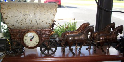 Electric Clocks 1512 United Electric Covered Wagon Clock