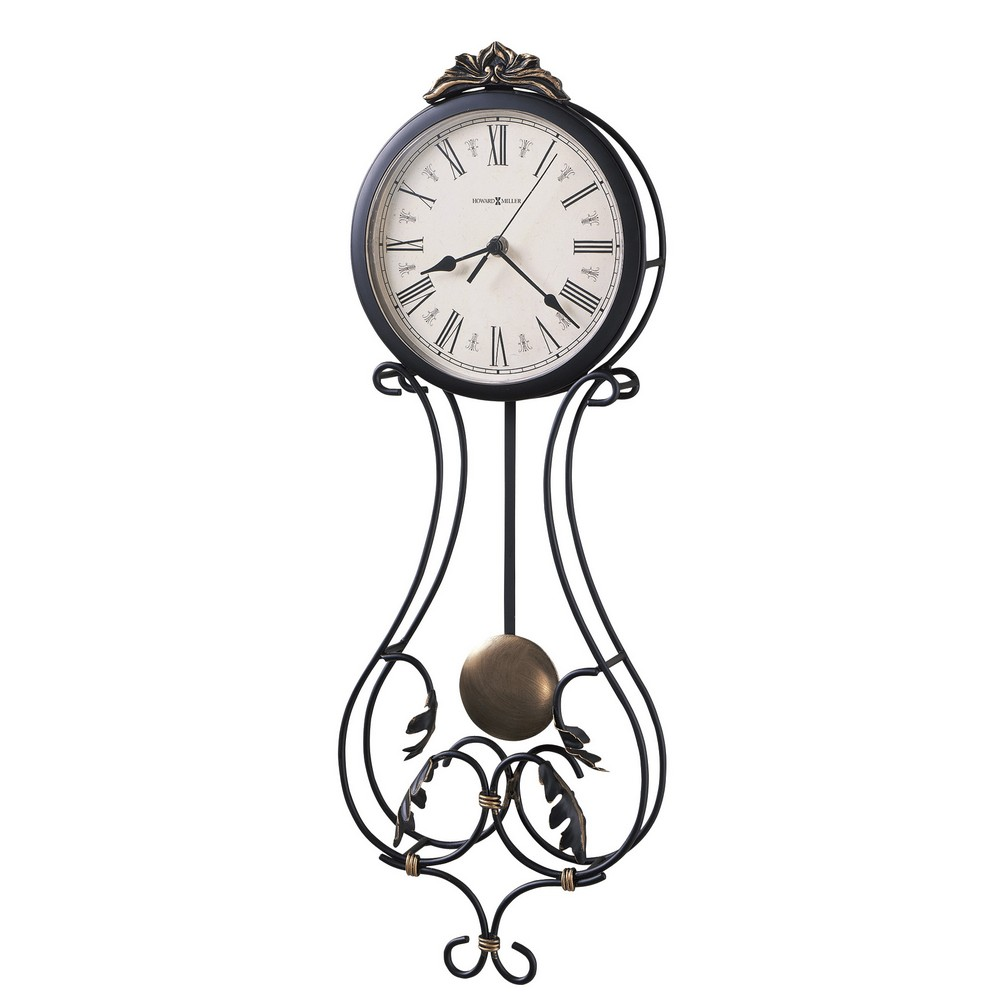 Howard Miller Paulina Wrought Iron Wall Clock 625296