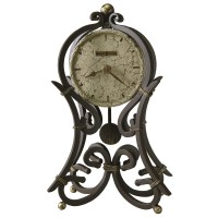 Howard Miller Vercelli Wrought Iron Mantel Clock 635141