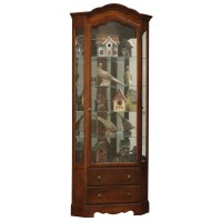 Howard Miller Phoebe Corner Curio Display Cabinet 680525