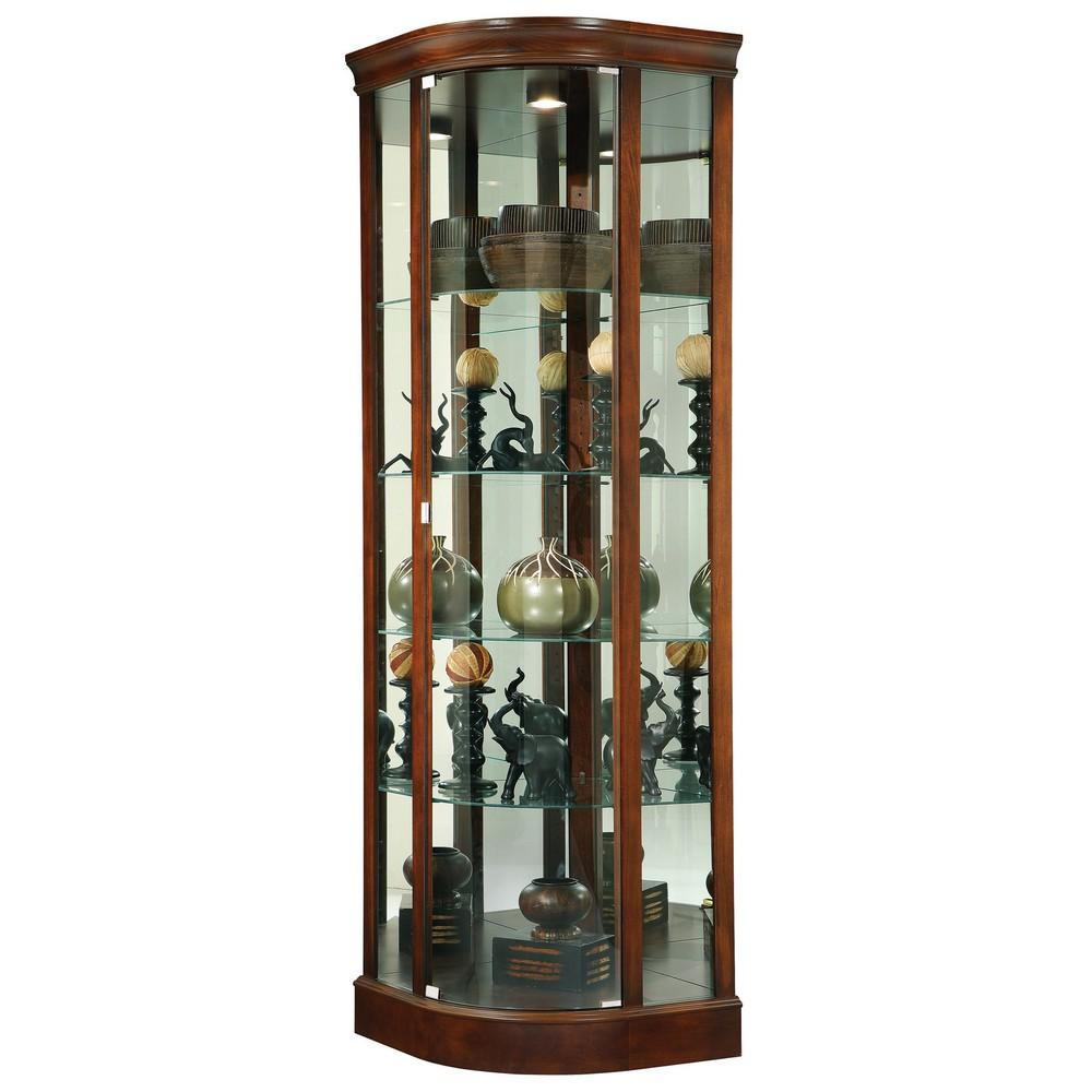 Howard Miller Marlowe Corner Curio Display Cabinet 680529
