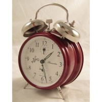 Sternreiter Double Bell Alarm Clock - Red MM 111 602 33