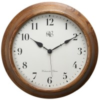 River City Clocks Oak Post Office Chiming Wall Clock 7100