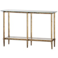 Elenio Glass Console Table 24421