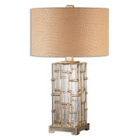 Home Accessories | Coburn Amber Glass Table Lamp | 26910-1