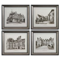 Art - Uttermost English Cottage Wall Art Set/4 41366