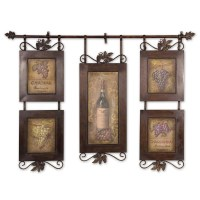 Decorative Accessories Wall Art Uttermost Hanging Wine