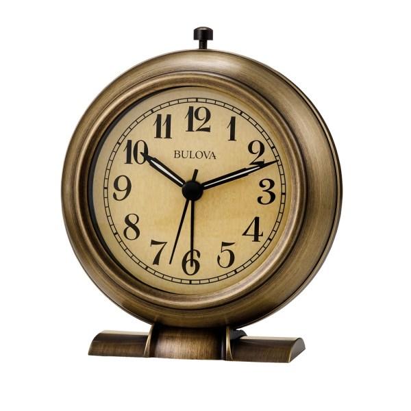 Bedside Alarm Clock - La Salle Metal Bulova B2024