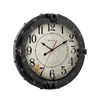 "Decorative Wall Clock - Navigator 17"" Bulova C4823 ..."