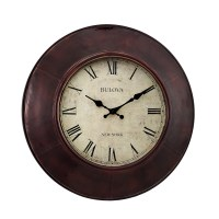 "Bulova Watford 18"" Decorative Wall Clock C4825"