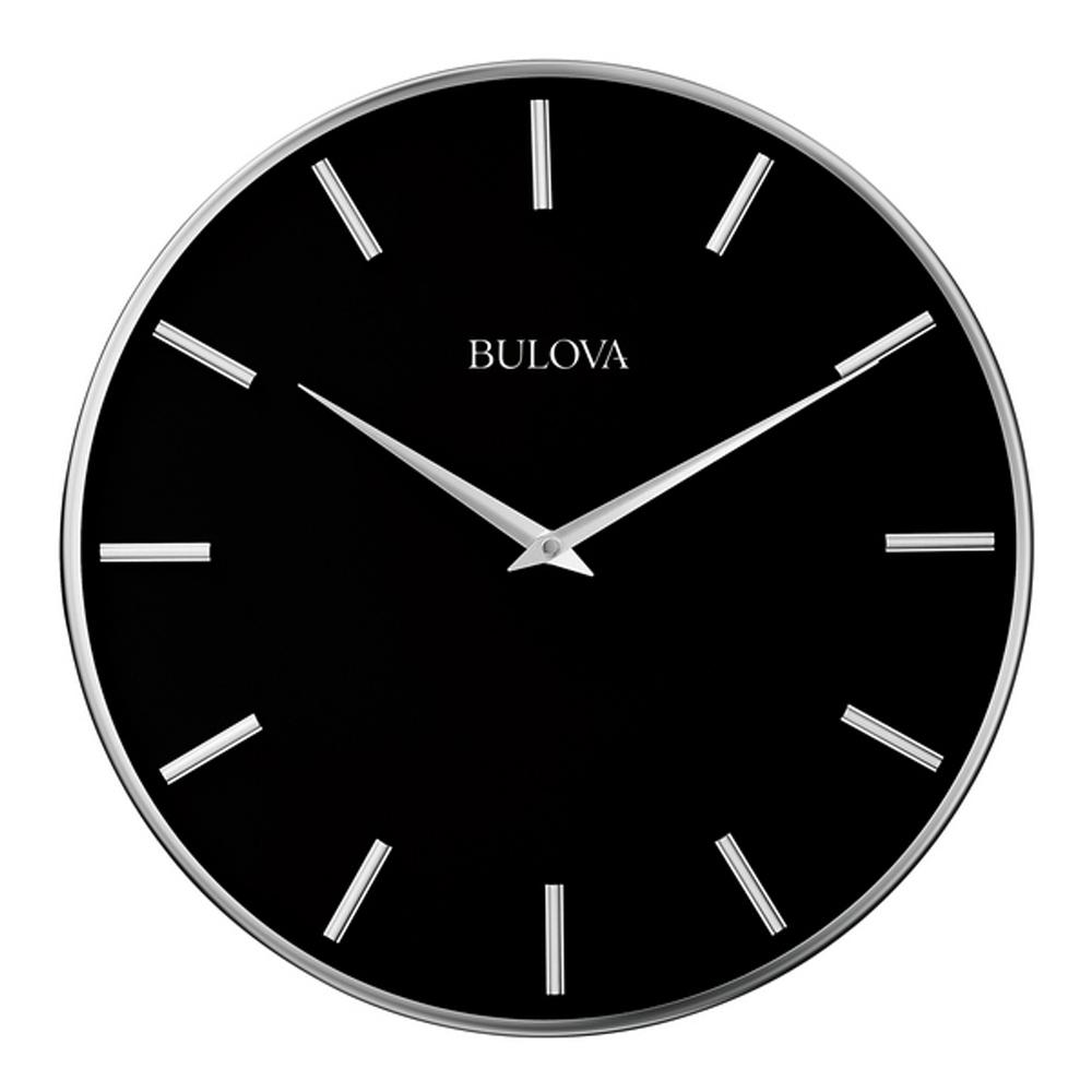 Metro 16 Modern Wall Clock  Bulova C4849  Clockshopscom