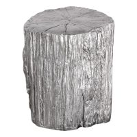 Uttermost Cambium Silver Tree Stump Stool 24663 ...