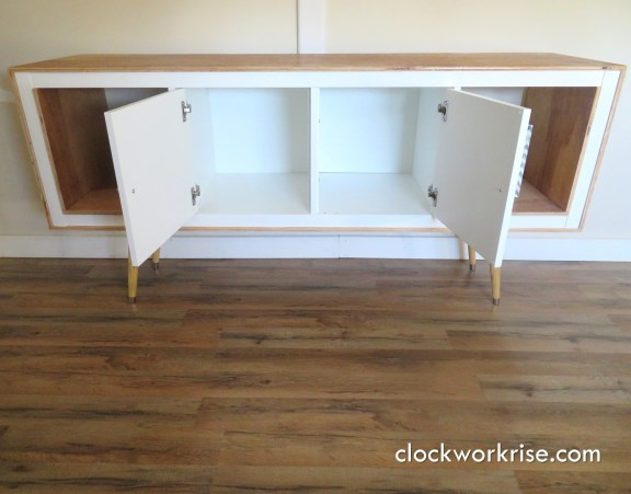 Exposed-Edge Plywood IKEA Hack Media Console for Under $200