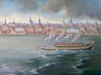 A Thames View 1749 - Detail