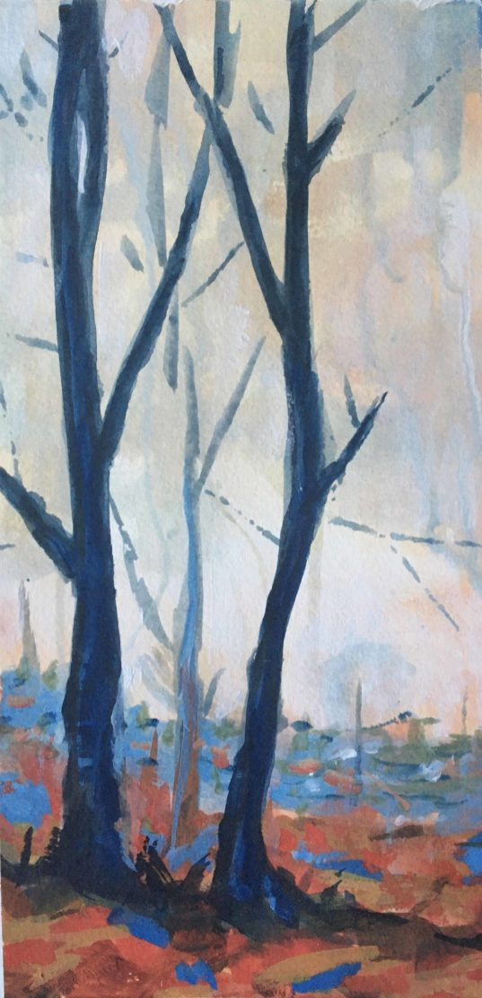 Edge of the Woods, Dulwich - acrylic on paper