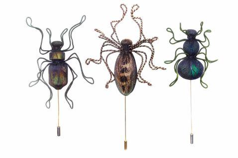 Beetle brooch pins