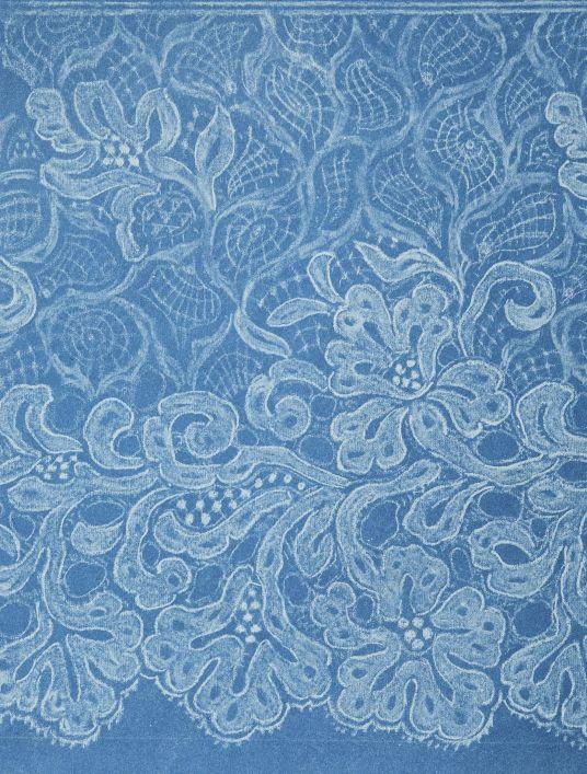 Cyanotype of lace, circa 1890