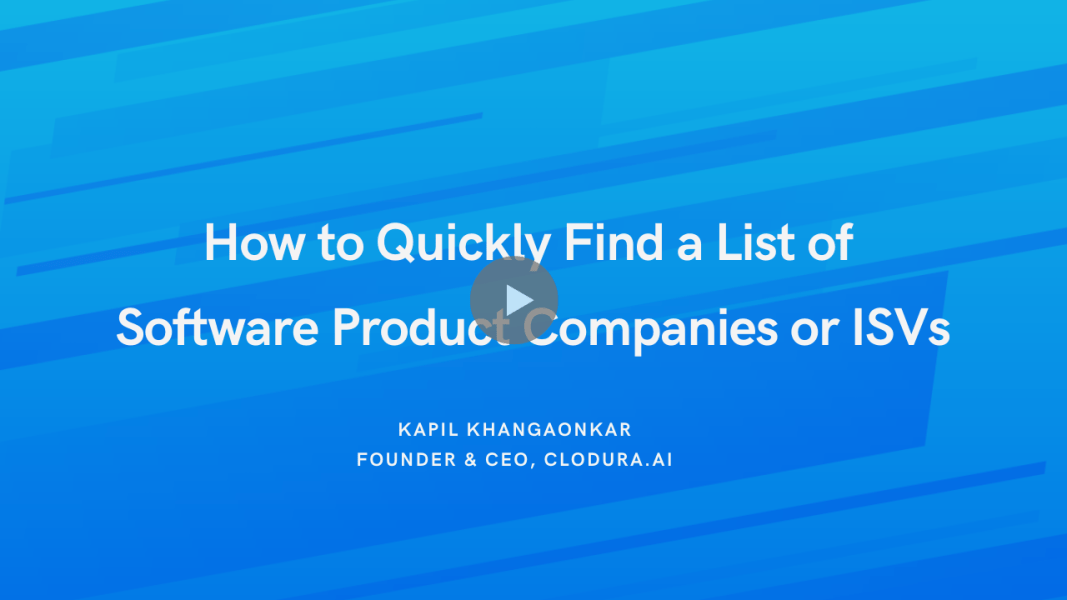 How to Quickly Find a List of Software Product or SaaS Companies?