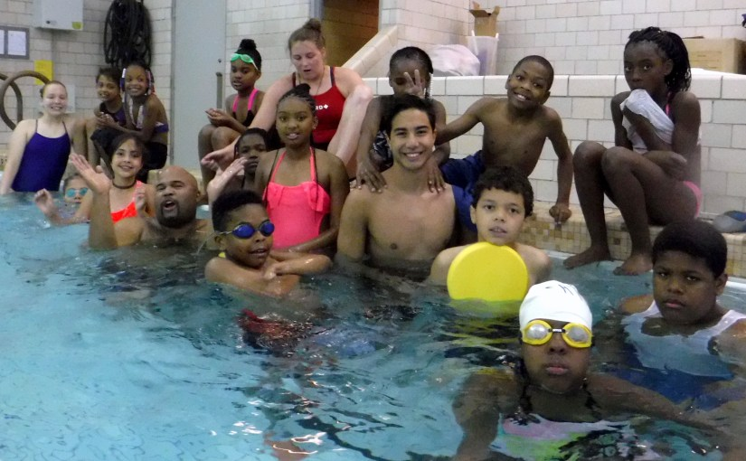 Summer Dreamers' Camp King Swim & Water Polo Squad: Voyageurs with Mr. Singleton