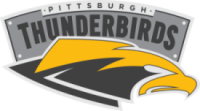 Logo of Pittsburgh Thunderbirds, professional ultimate team.
